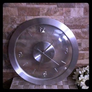 Other - Silver wall clock